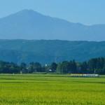 鳥海山と稔りの大地 由利鉄1D__前郷-曲沢_090906_佐藤和博
