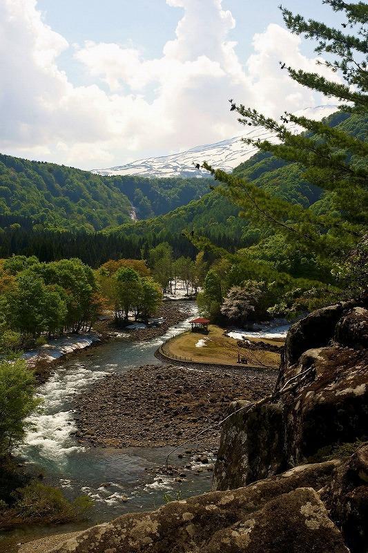 法体の滝 快晴 滝の上から鳥海山を望む article_2 日々好々 20120521
