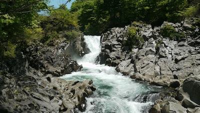 法体の滝 の甌穴
