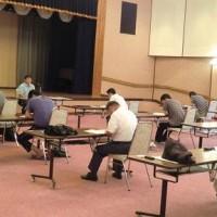 検定試験(矢島会場)