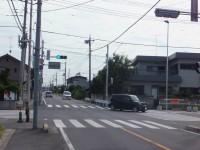 栗橋駅西口から北彩高校入口の信号左折