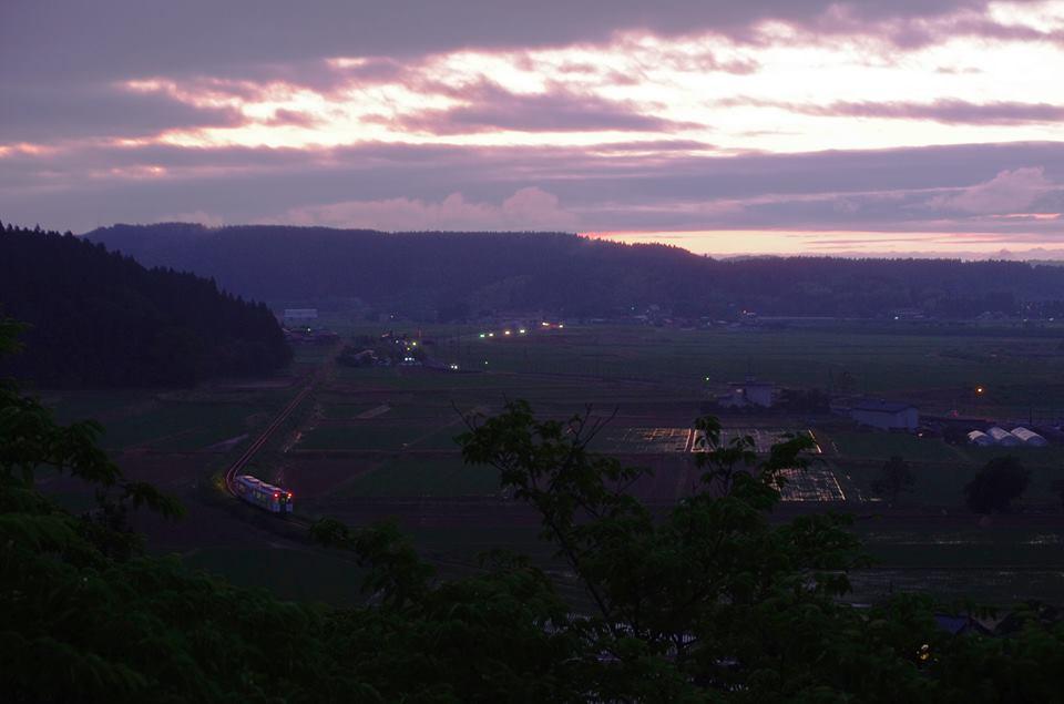 雨上がりの夕景 黒沢駅 2013年6月 高木比呂志 ブログ魔人ぶぅblog