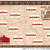 矢島駅開業75周年記念入場券セット