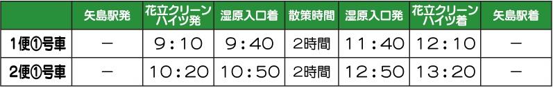 シャトル時刻表2