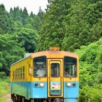 由利鉄 「まごころ列車」HM掲出 130720~ 7D 子吉~鮎川 130730 佐藤和博H690