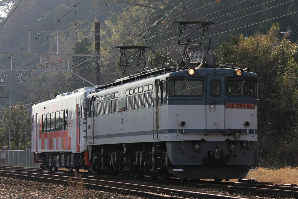 8862レ EF65-2076+由利高原鉄道YR-3000形 @sho9636