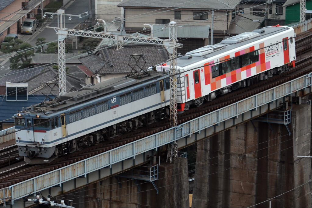 甲25【8862レ】EF65-2076+由利高原鉄道YR-3000型2次車 甲種 鉄道撮り鉄