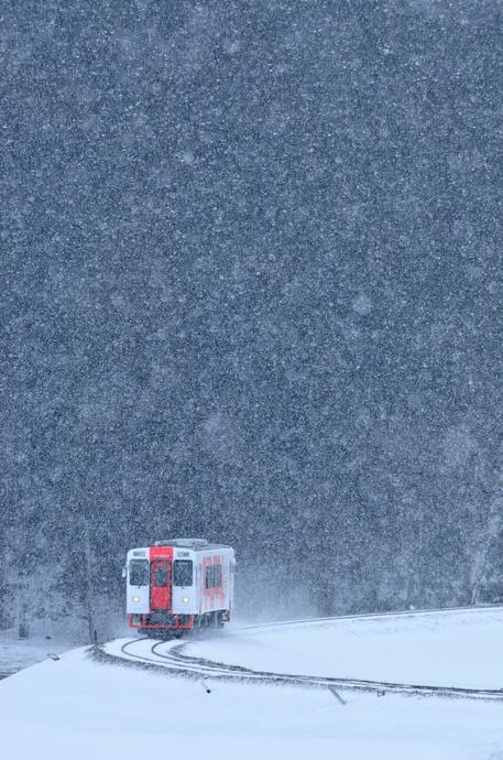 YR-3002雪中試運転