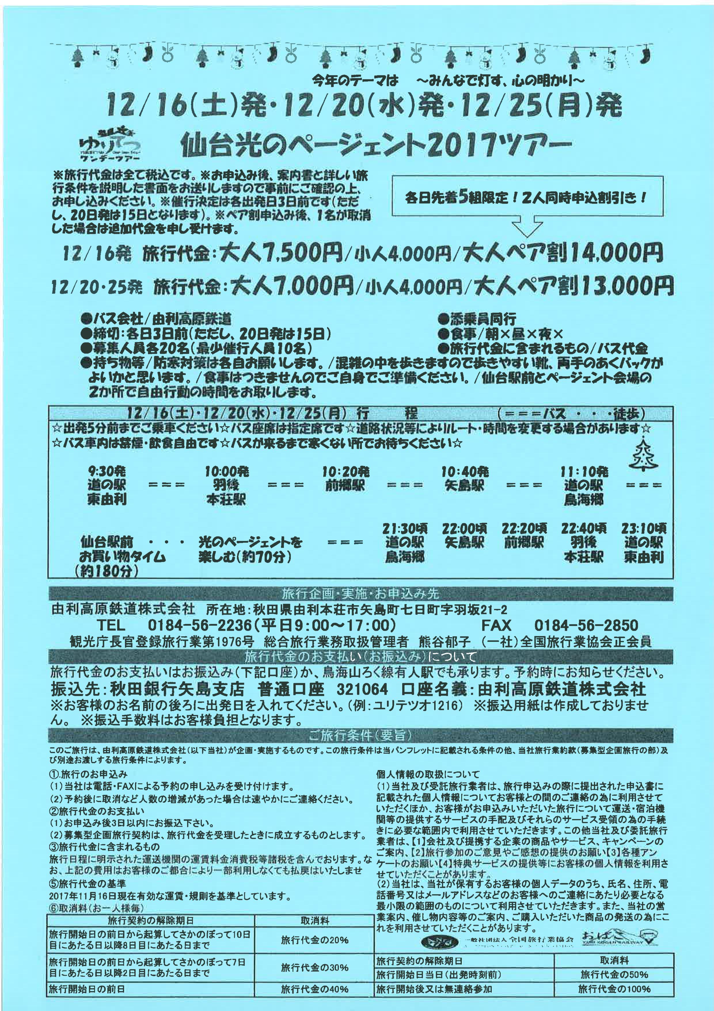 仙台光のページェント2017ツアー